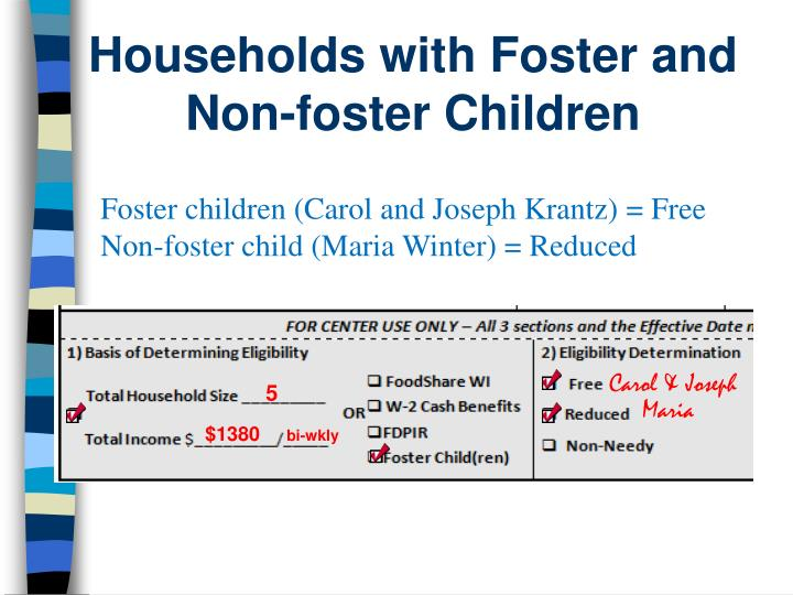 Households with Foster and