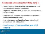 accelerated actions to achieve mdg 4 and 5