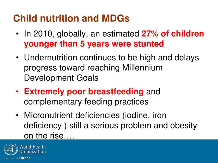 Child nutrition and