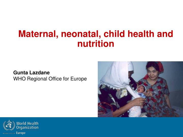 maternal neonatal child health and nutrition