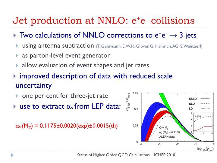 Jet production at NNLO: e