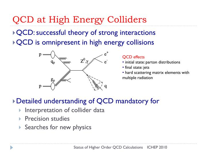QCD at High Energy Colliders