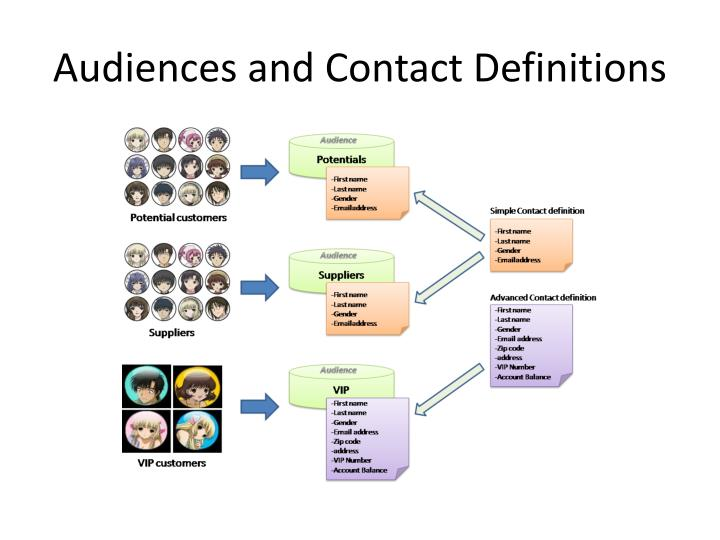 Audiences and Contact Definitions
