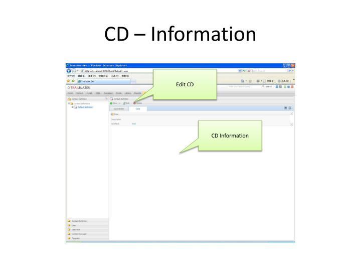 CD – Information