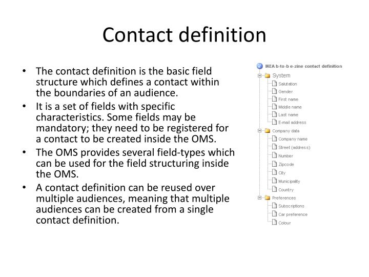 Contact definition