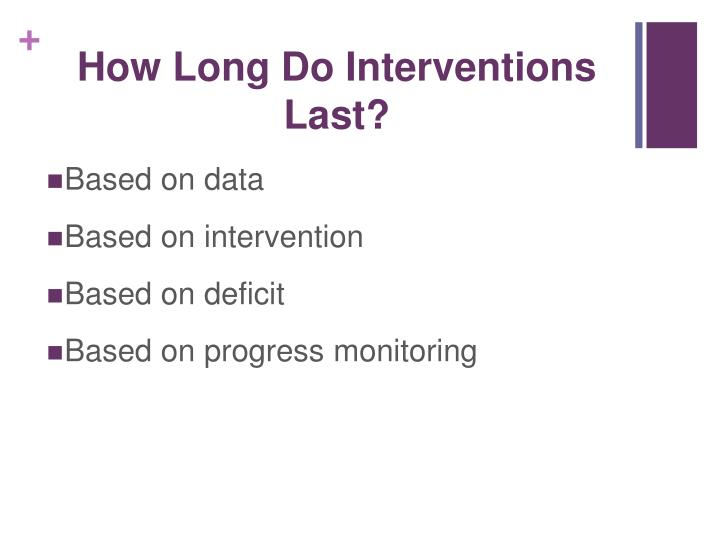 How Long Do Interventions Last?
