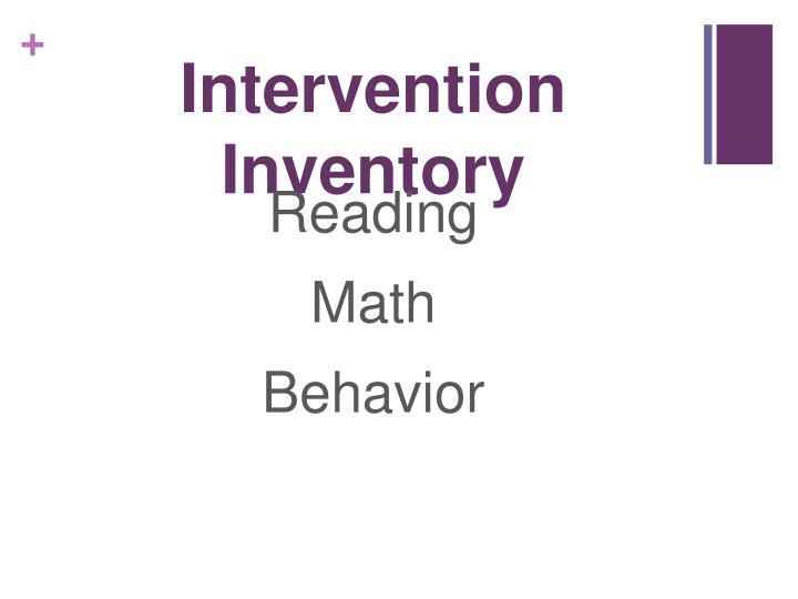 Intervention Inventory