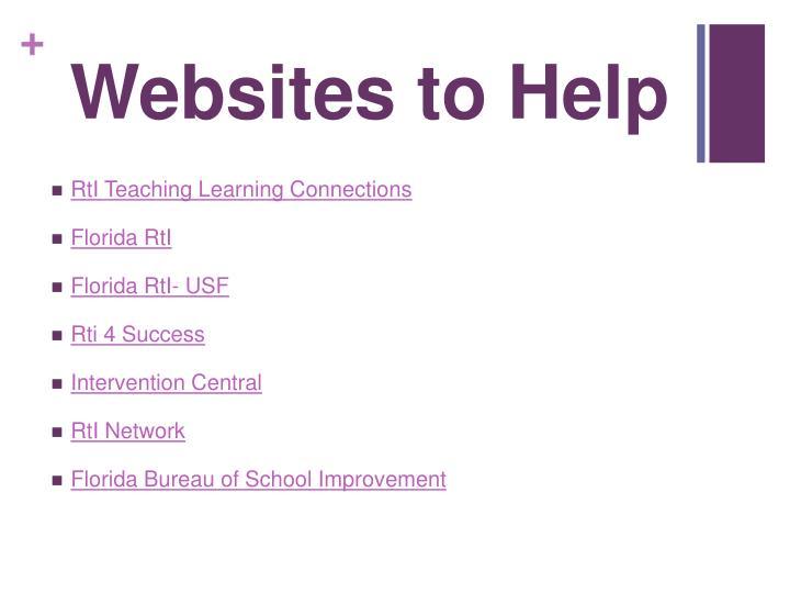 Websites to Help