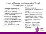 ladder of support and intervention ysgol cefnogaeth ac ymyrraeth