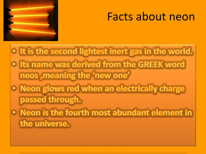 Facts about neon