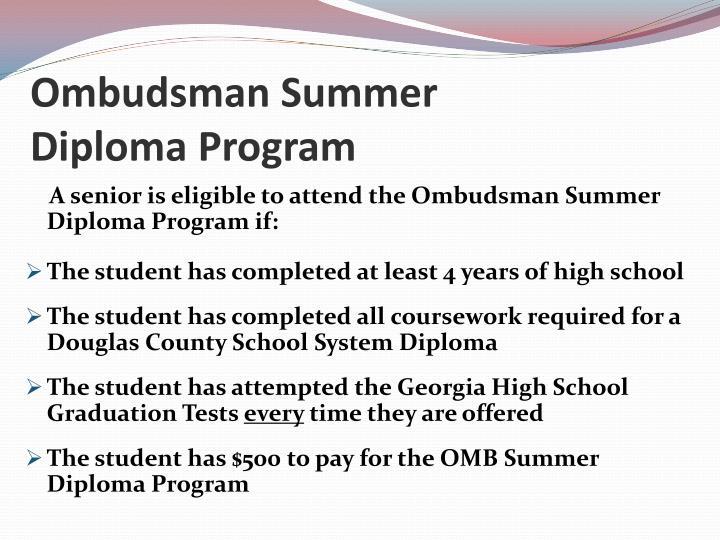 Ombudsman Summer