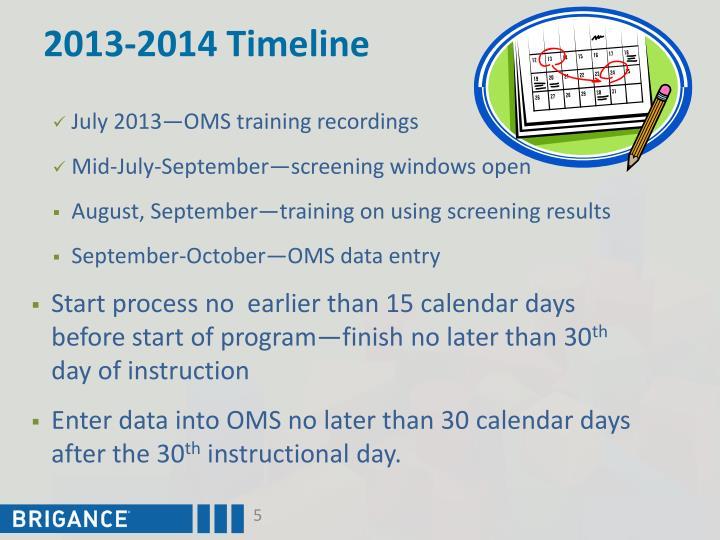 2013-2014 Timeline