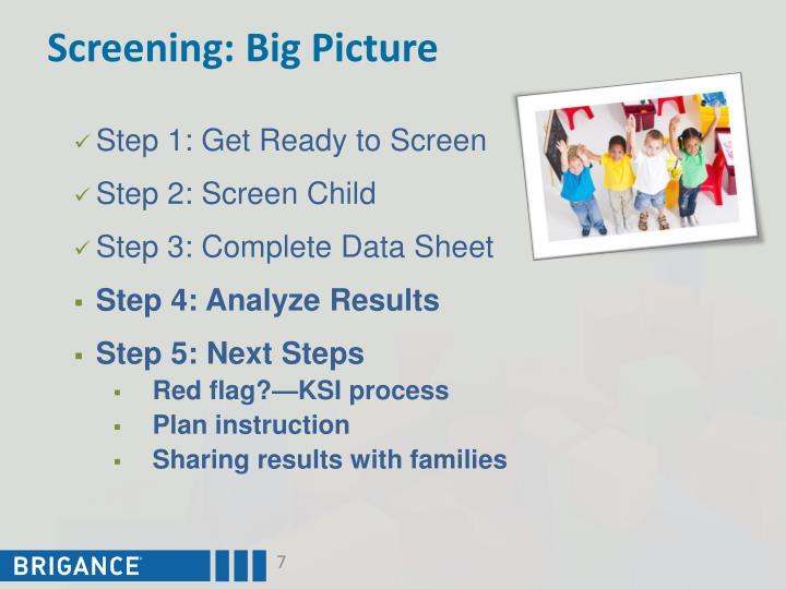 Screening: Big Picture
