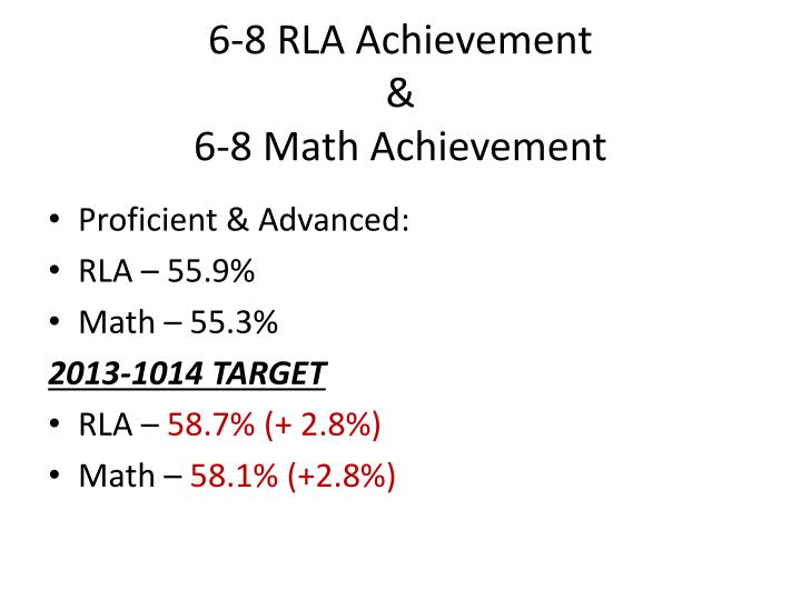 6-8 RLA Achievement
