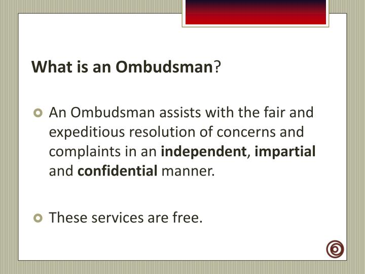 What is an ombudsman