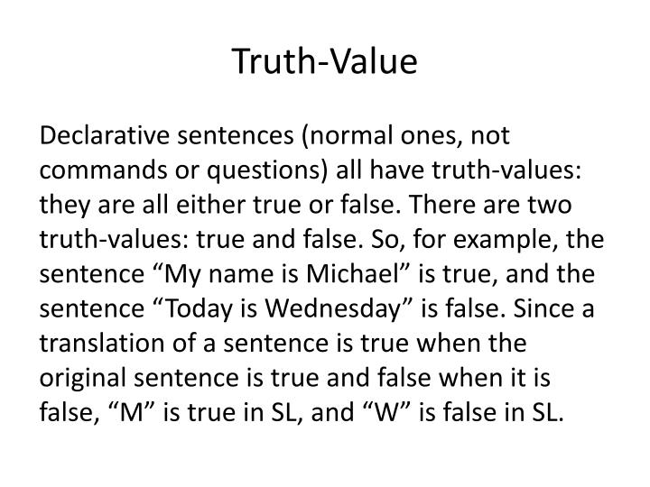 Truth-Value