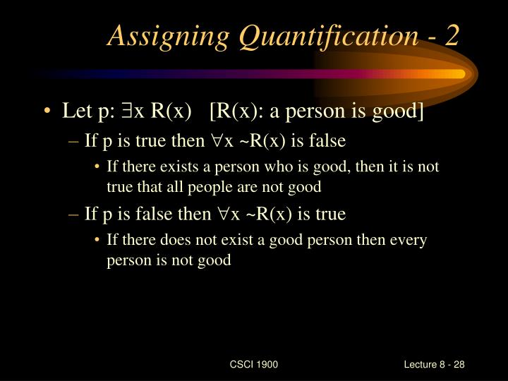 Assigning Quantification - 2