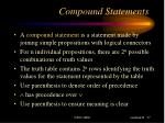 compound statements