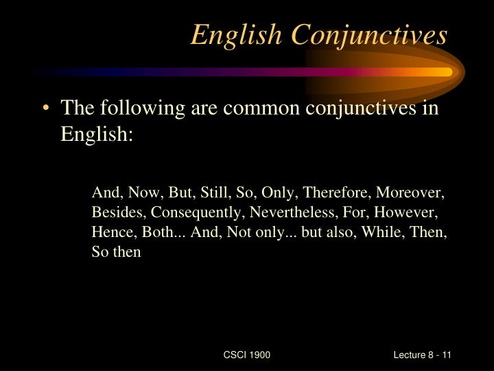 English Conjunctives