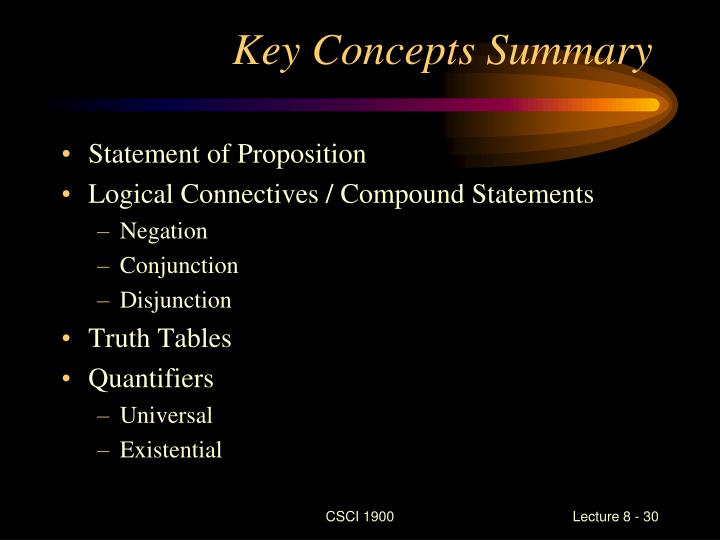 Key Concepts Summary