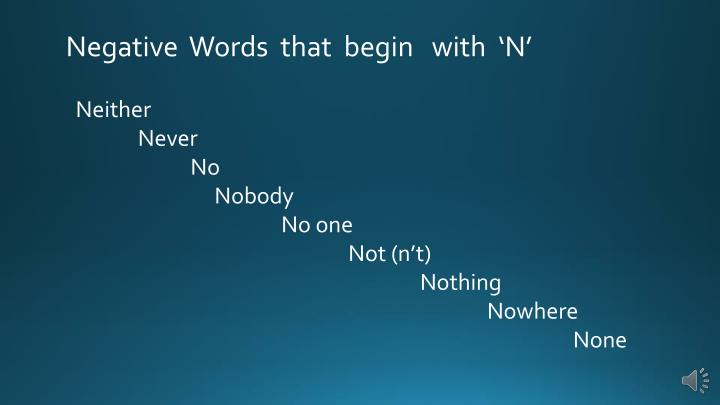 Negative  Words