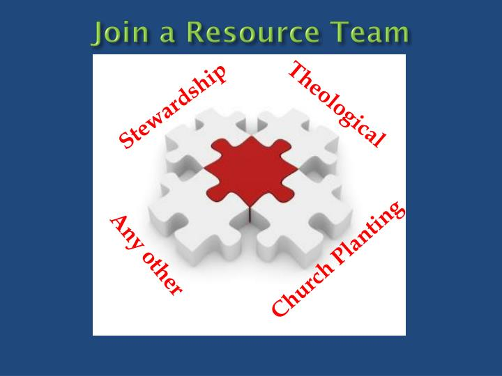 Join a Resource Team