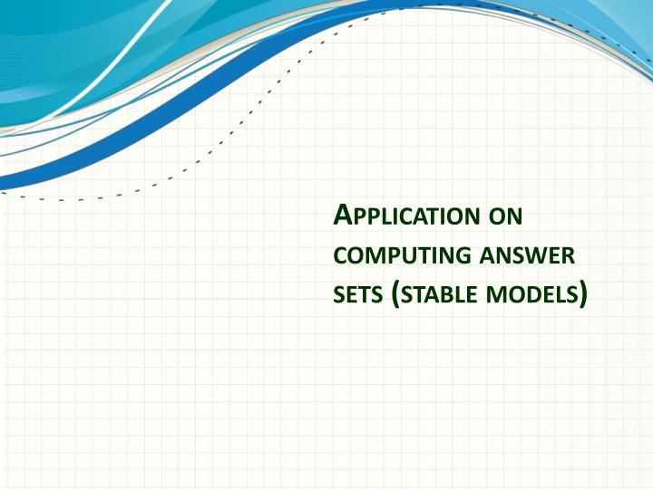 Application on computing answer