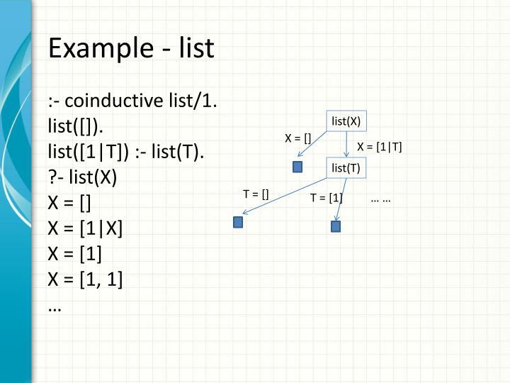 Example - list