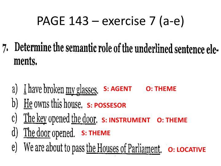PAGE 143 – exercise 7 (a-e)