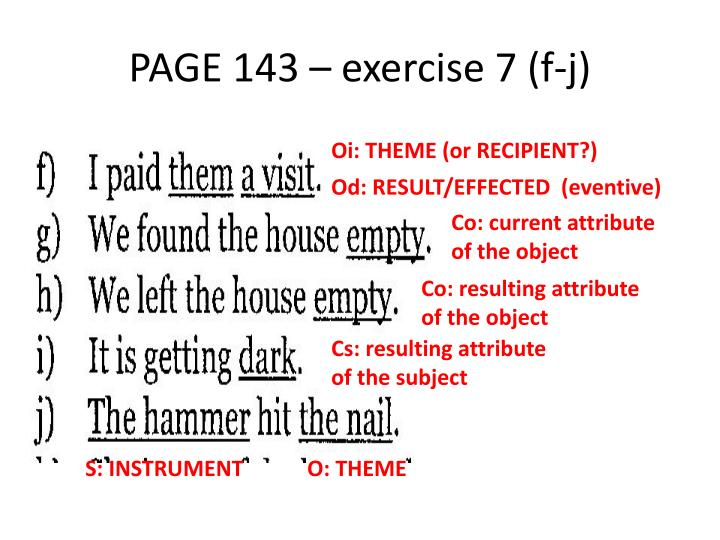 PAGE 143 – exercise 7 (f-j)