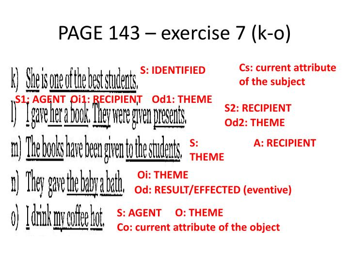 PAGE 143 – exercise 7 (k-o)