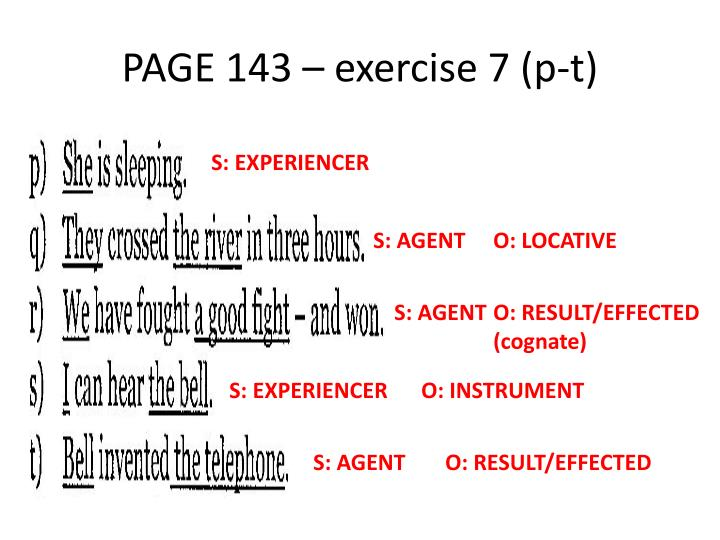 PAGE 143 – exercise 7 (p-t)