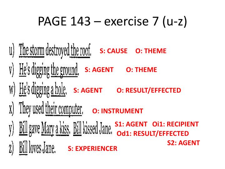 PAGE 143 – exercise 7 (u-z)