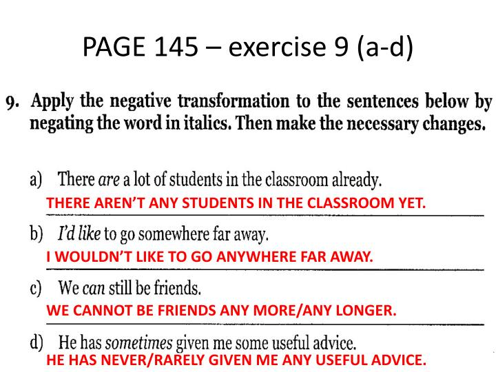 PAGE 145 – exercise 9 (a-d)