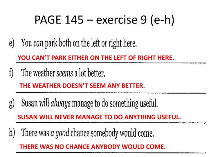PAGE 145 – exercise 9 (e-h)