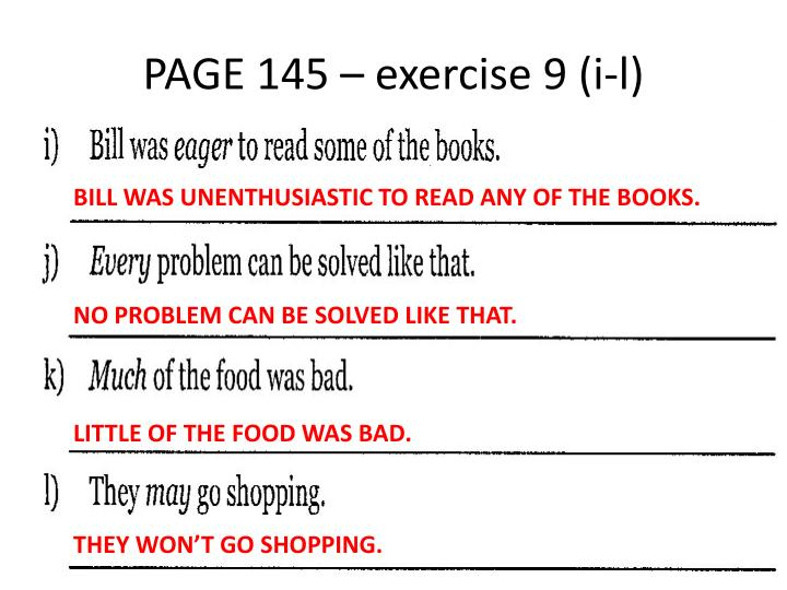 PAGE 145 – exercise 9 (
