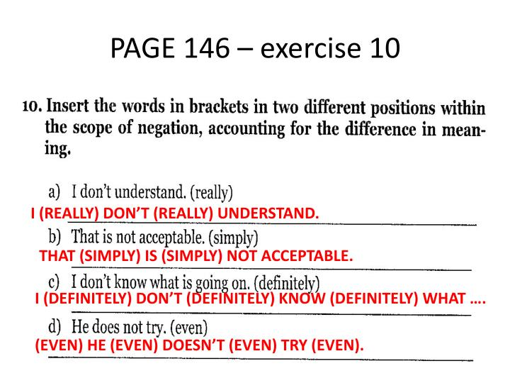 PAGE 146 – exercise 10