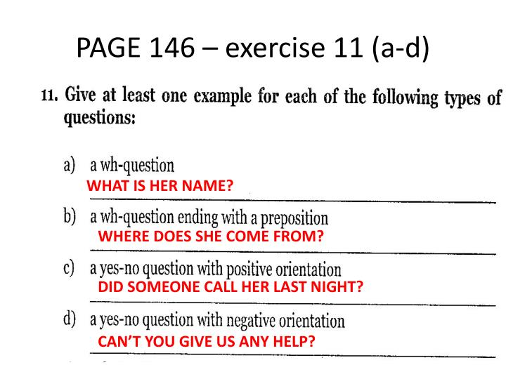 PAGE 146 – exercise 11 (a-d)