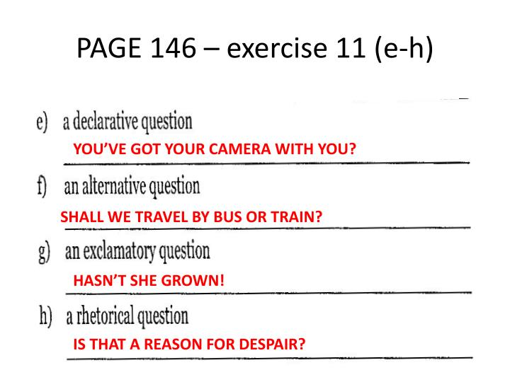 PAGE 146 – exercise 11 (e-h)