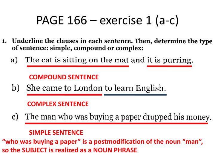 PAGE 166 – exercise 1 (a-c)