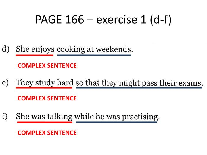 PAGE 166 – exercise 1 (d-f)