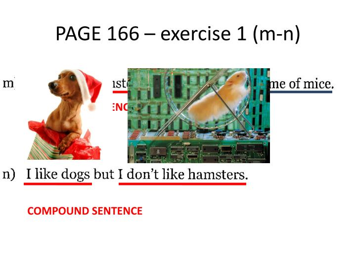PAGE 166 – exercise 1 (m-n)