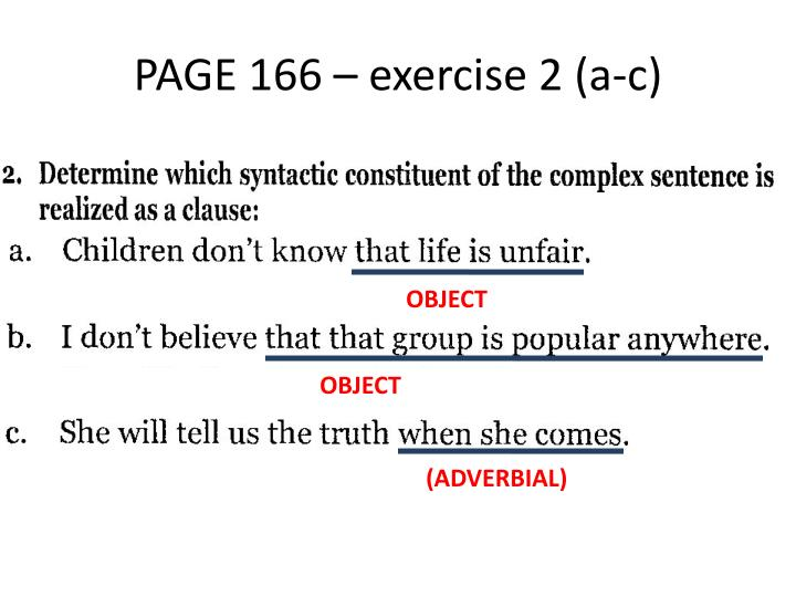 PAGE 166 – exercise 2 (a-c)