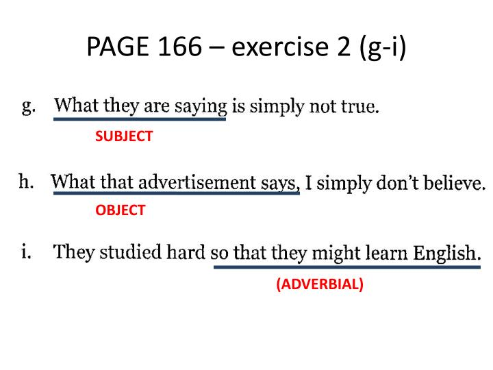 PAGE 166 – exercise 2 (g-