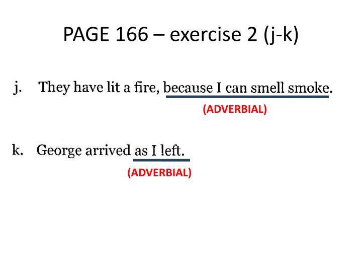 PAGE 166 – exercise 2 (j-k)