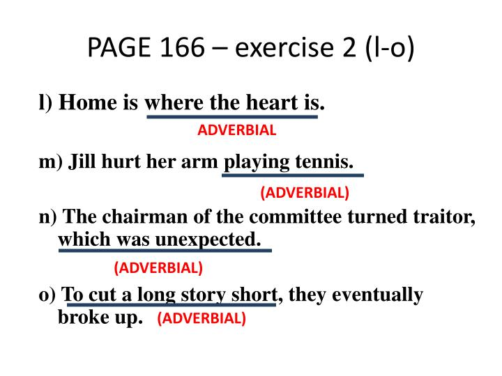 PAGE 166 – exercise 2 (l-o)