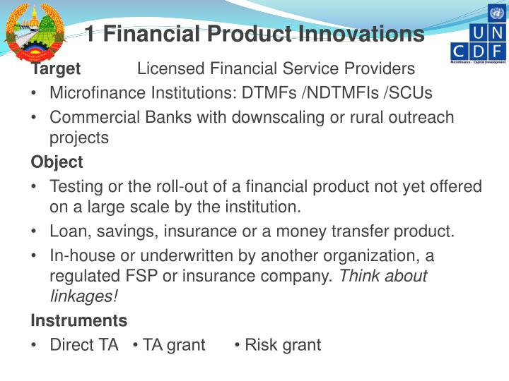 1 Financial Product Innovations