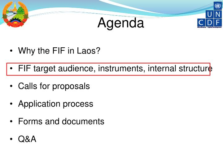 Why the FIF in Laos?