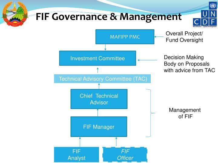 FIF Governance & Management