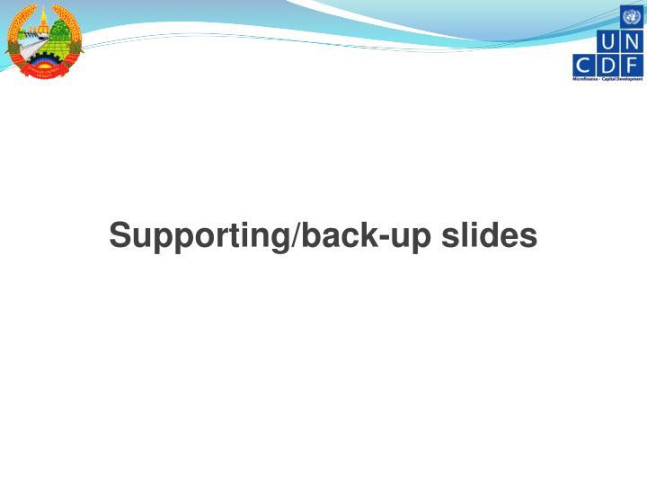 Supporting/back-up slides